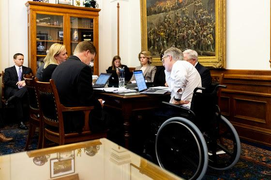 Abbott confers with Texas leaders regarding COVID-19.
