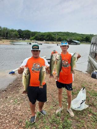 Trent Buchholz and Grady Doucet placed third in the Abu Garcia College tournament July 10.