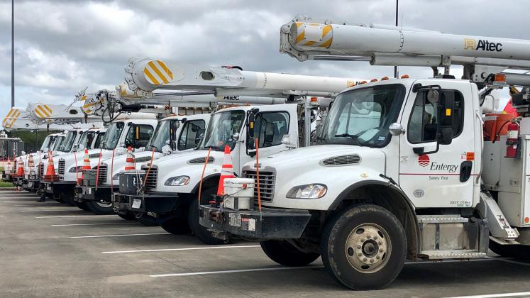 Entergy plans to restore power for Southeast Texas by end of week.