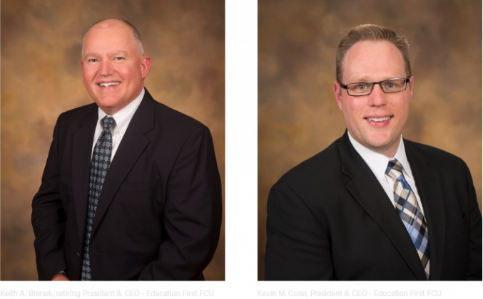 Keith A. Brenek is retiring from EFFCU as President and CEO. Kevin M. Conn has been chosen as the new credit union leader.