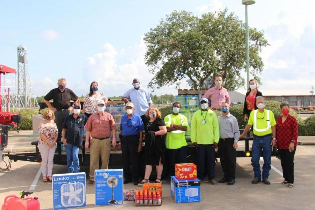 Port of Beaumont staff and volunteers delivered relief supplies to Lake Charles on  Sept. 14. (Port of Beaumont photo)