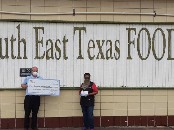 Valero donates to South East Texas Food Bank.