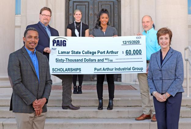 The Port Arthur Industry Group recently donated $60,000 to Lamar State College Port Arthur's Workforce Training program to help residents of Port Arthur earn a CDL license. (Courtesy photo)